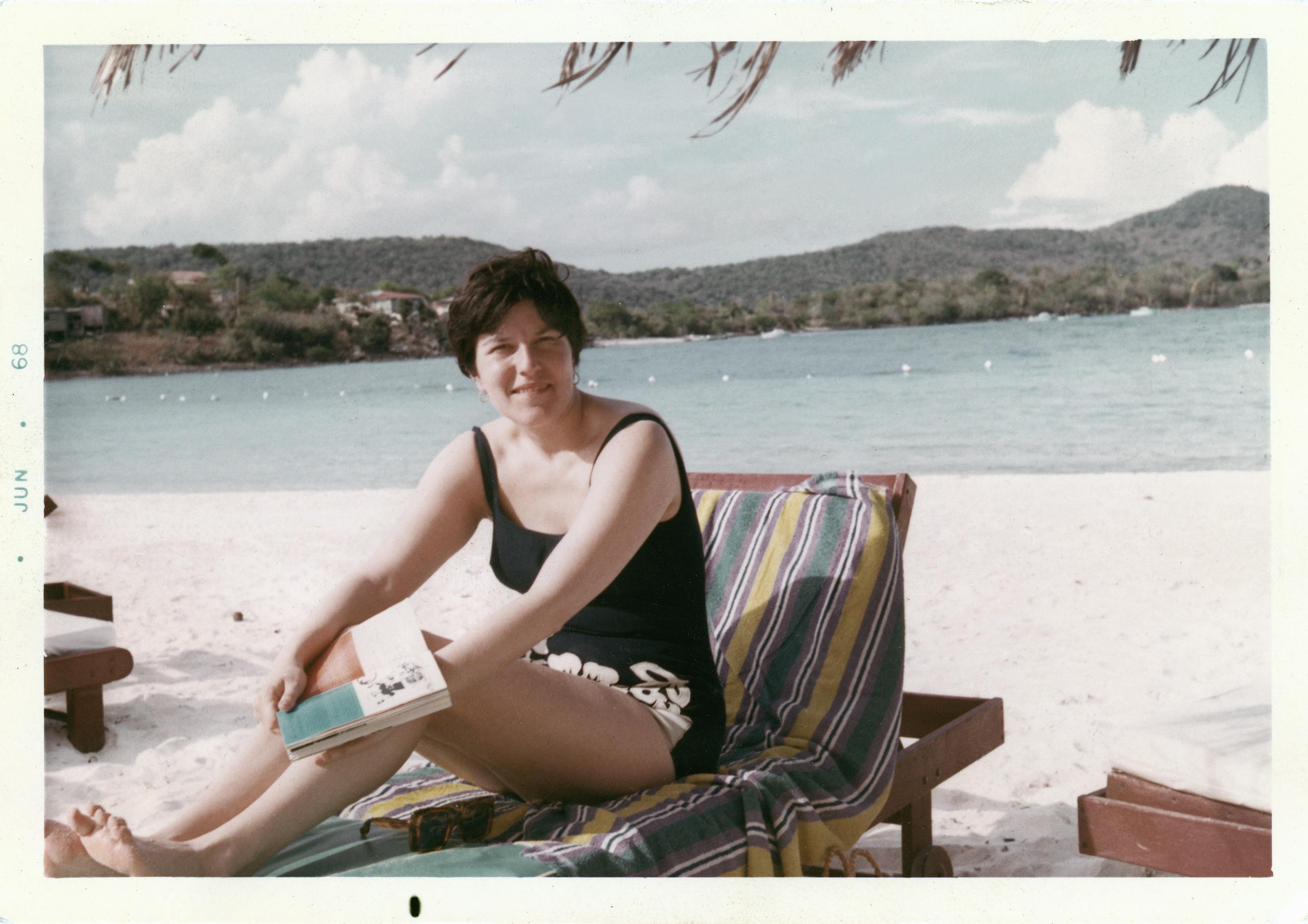 Mom on beach June 1968